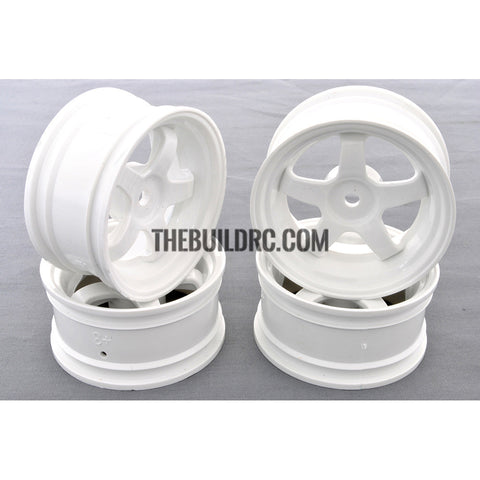 1/10 RC Car 5 Spoke Wheel Sports 26mm - White