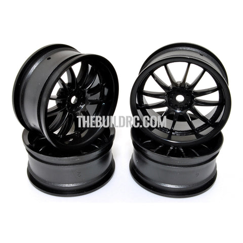 1/10 RC Car 12 Spoke Wheel Sports 26mm - Black