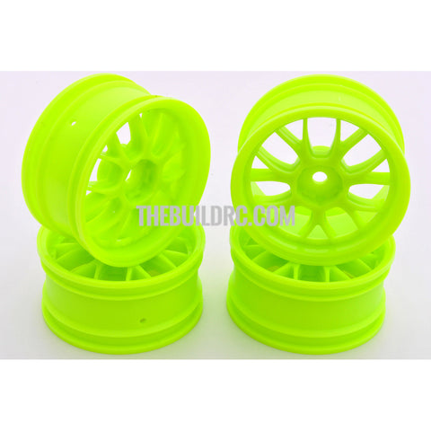 1/10 RC Car 14 Spoke Wheel Sports 26mm (4pcs) - Green