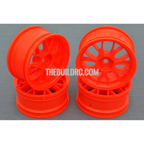 1/10 RC Car 14 Spoke Wheel Sports 26mm (4pcs) - Orange