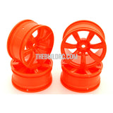 1/10 RC Car 7 Spoke 26mm Chrome Wheel (4pcs) - Orange