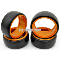 1/10 RC Car DRIFT Tires with insert Wheel (4pcs) - Orange