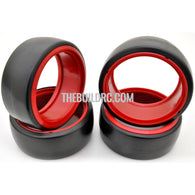 1/10 RC Car DRIFT Tires with insert Wheel (4pcs) - Red