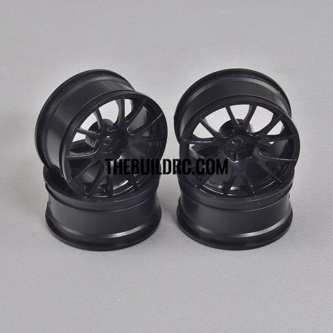 1/10 RC Car 10 Spoke Sporty Wheel 4pcs - Black