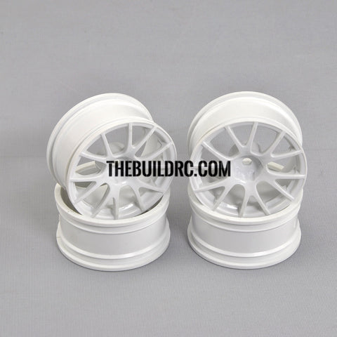 1/10 RC Car 10 Spoke Sporty Wheel 4pcs - White