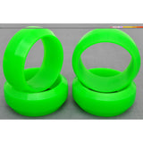 1/10 RC Car Rubber Diamond Cut 0 Degree DRIFT Tires (4pcs) - Green