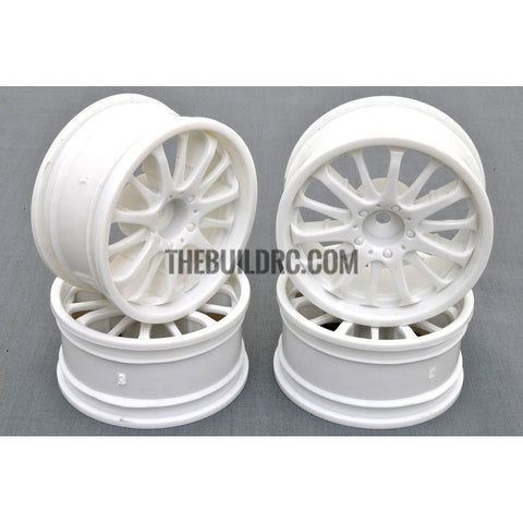 1/10 RC Car 14 Spoke Sporty Wheel 4pcs - White