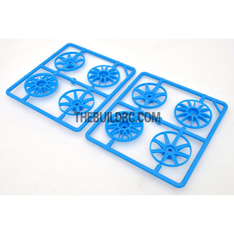 1/10 RC Car Wheel Spoke Set (Light Blue)