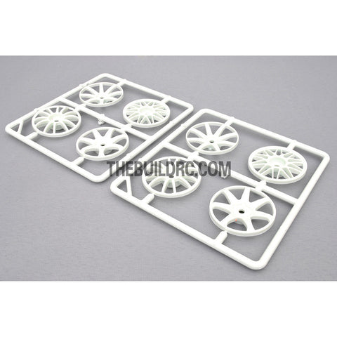 1/10 RC Car Wheel Spoke Set (White)