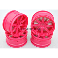 1/10 RC Car 26mm 8 Removeable Spoke 2mm Offset DRIFT Sporty Wheel 4pcs - Purple
