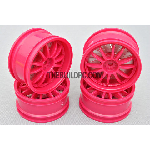 1/10 RC Car 26mm 12 Removeable Spoke 2mm Offset DRIFT Sporty Wheel 4pcs - Purple