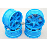 1/10 RC Car 26mm 7 Removeable Spoke 2mm Offset DRIFT Sporty Wheel 4pcs - Blue