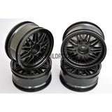 1/10 RC Car 26mm 20 Removeable Spoke 2mm Offset DRIFT Sporty Wheel 4pcs - Black
