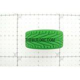 1/10 RC On-Road Touring Car L Pattern Performance Rubber Racing Tyres / Tires (4pcs) - Green