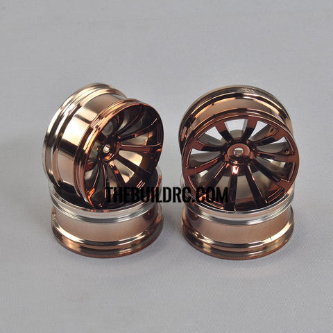 1/10 RC Car 26mm 10 Spoke 6mm Offset DRIFT Sporty Wheel 4pcs - Copper