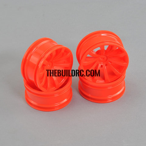 1/10 RC Car 26mm 10 Spoke 3mm Offset DRIFT Sporty Wheel 4pcs - Orange