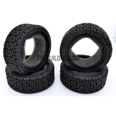 1/10 RC On-Road Touring Car L Pattern Performance Rubber Racing Tyres / Tires (4pcs) - Black