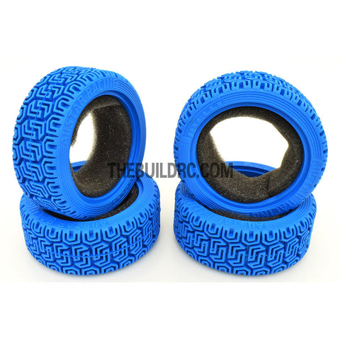 1/10 RC On-Road Touring Car L Pattern Performance Rubber Racing Tyres (4pcs) - Blue