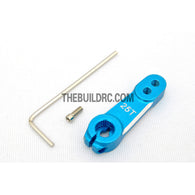 RC Car CNC Aluminium 35mm Adjustable Servo Arm / Horn for Futaba Servo (25T) - Blue