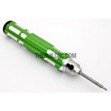 1.5mm Adjustable Length Hex Screw Driver - Green