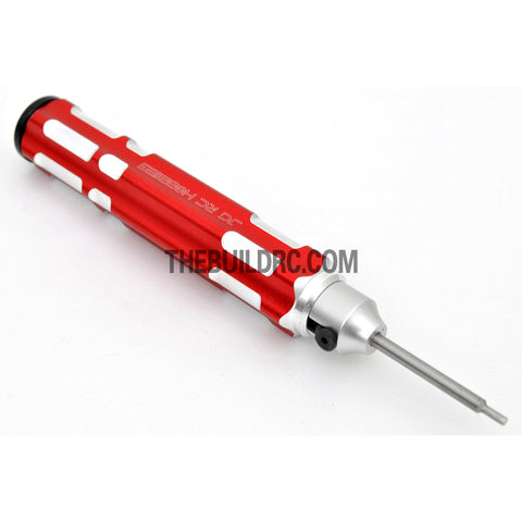 1.5mm Adjustable Length Hex Screw Driver - Red