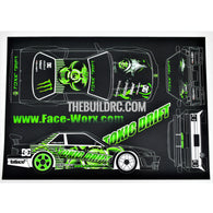 1/10 RC Car TOXIC DRIFT Body Self Adhesive Decals