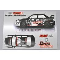 1/10 RC Car 2012 Project-D FaceWorx X DriftMission Skull series Arrow Decais Set FWD034 Self Adhesive Decals