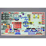 Auto Racing Sponsor Name Decals for 1/10 Car Body (Pioneer / Canon / Good Year / Marlboro / etc)