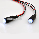 1/10 RC Car LED Angel Eyes Headlight Bulb 5mm - White