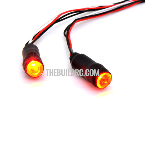 1/10 RC Car LED Angel Eyes Headlight Bulb 5mm - Yellow