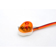 RC Police Petrol Car 360 Degree Rotation LED Light (Oval) - Orange