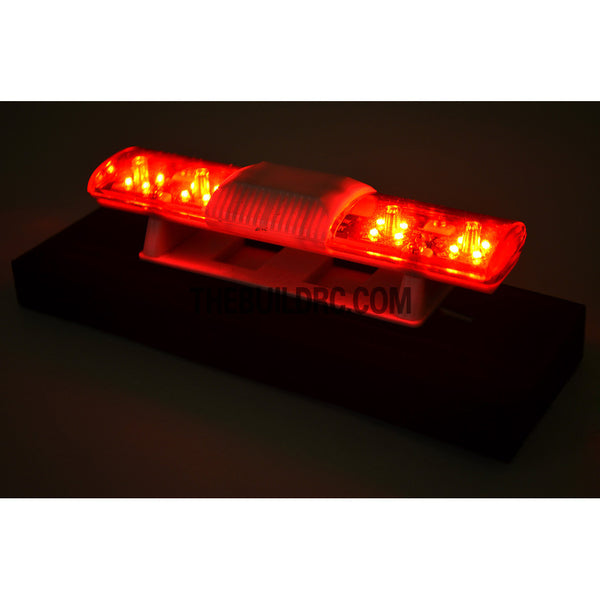102 x 26mm Police Petrol 360?? LED Light Bar for 1/10 to 1/14 RC Car - Red