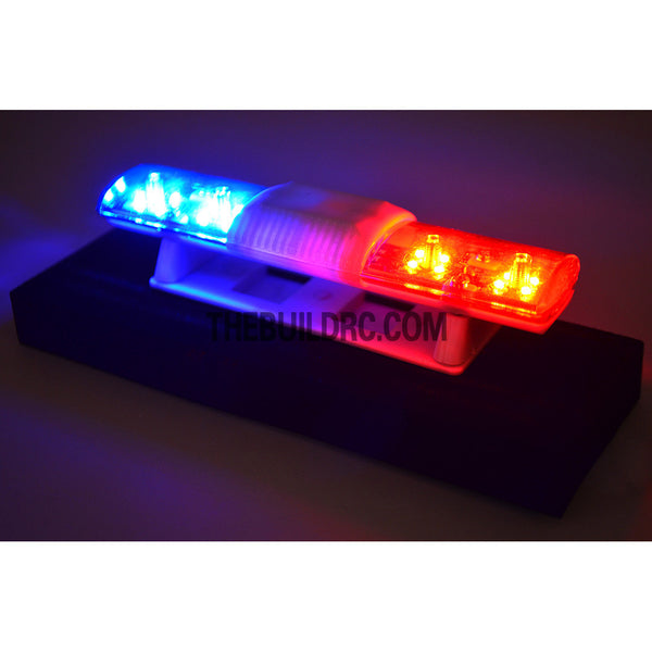 102 x 26mm Police Petrol 360?? LED Light Bar for 1/10 to 1/14 RC Car - Red / Blue