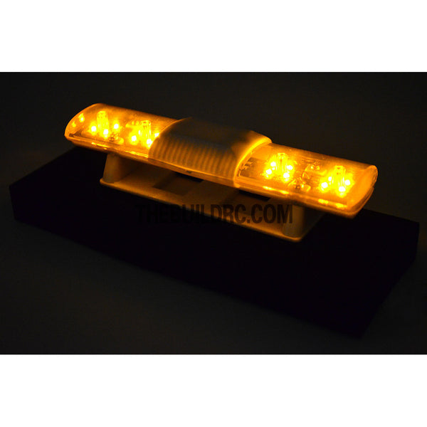102 x 26mm Police Petrol 360?? LED Light Bar for 1/10 to 1/14 RC Car - Yellow