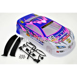 1/10 Painted RC Car Body Tamiya 416 Analog Championship Driver With Rear Spoiler