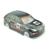 1/10 Porsche Cayenne Turbo Analog Painted RC Car Body wtih Rear Spoiler & Mirror