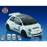 1/10 Fiat 500 PC Transparent RC Car Body with Decals, Light Box & Spoilers