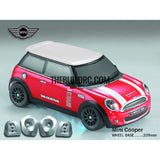 1/10 M03 Mini PC Transparent RC Car Body with Decals, Light Box & Spoilers