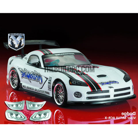 1/10 Dodge Viper SRT10 ACR-X PC Transparent 190mm RC Car Body