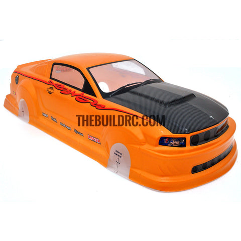 1/10 FORD Focus 66 Mustang GT350 PVC Analog Painted RC Car Body