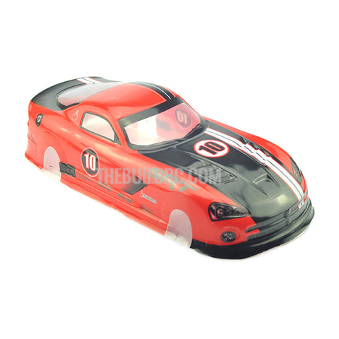 1/10 Dodge Viper SRT10 ACR-X PVC Analog Painted RC Car Body