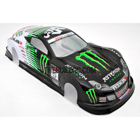 1/10 HONDA SHV-010-GT Monster Energy PVC Painted 190mm RC Car Body