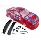 1/10 NISSAN TY15 Silvia S15 Team Yoto Drift Analog 185mm PVC Printed RC Car Body - Red