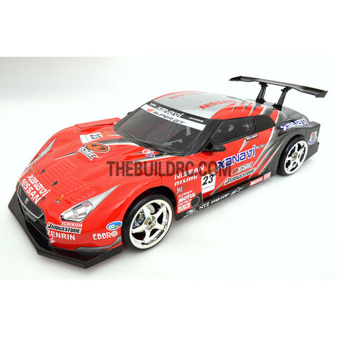 1/10 Nissan GTR R35 190mm PC Finished RC Car Body with Decal / Spoiler / Side Mirror / Light Box