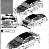 1/10 Mitsubishi Lancer Evo 9 PC Transparent RC Car Bumper Body Kit