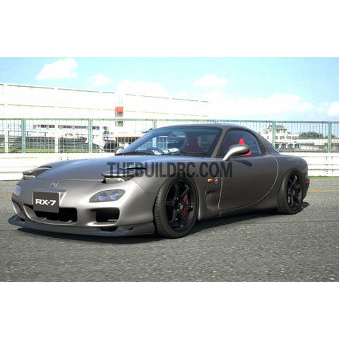 1/10 Mazda RX-7 Sport 185mm PC Transparent RC Car Body With Light Brucket / Decal
