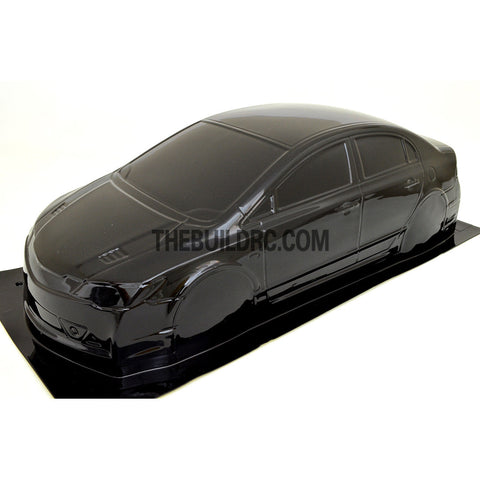 1/10 Honda Civic Type R PC Pre-painted 195mm RC Car Body - Black