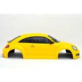1/10 Volkswagen Beetle 185mm PC Finished RC Car Body with Decal / Spoiler / Side Mirror / Light Bruckets - Yellow
