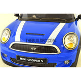 1/10 M03 Mini 180mm PC Finished RC Car Body with Decal / Spoiler / Side Mirror / Light Bruckets - Blue