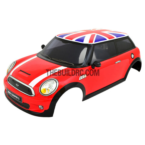 1/10 M03 Mini 180mm PC Finished RC Car Body with Decal / Spoiler / Side Mirror / Light Bruckets - Red